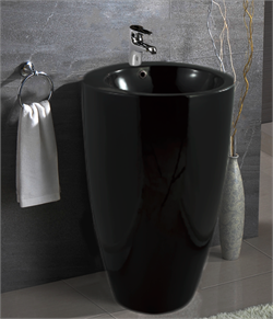 Раковина напольная Mira MR-4949NPB (490x490x820 мм.) черная - фото 5545