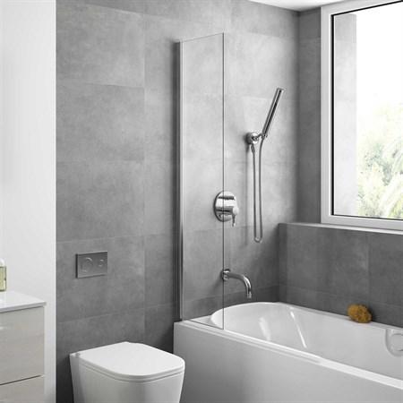 Шторка для ванной стеклянная Mira Glass 300, универсальная - фото 6116
