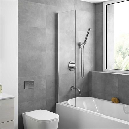 Шторка для ванной стеклянная Mira Glass 400, универсальная - фото 6117