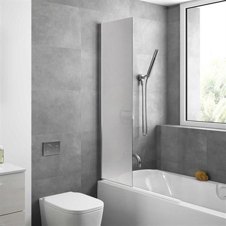 Шторка для ванной стеклянная Mira Glass 400M, универсальная - фото 7106