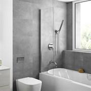 Шторка для ванной стеклянная Mira Glass 400, универсальная