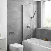 Шторка для ванной стеклянная Mira Glass 600, универсальная